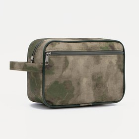 71032D Cosmetic bag road, 25 * 8 * 17cm, zippered section, n / pocket, moss camouflage