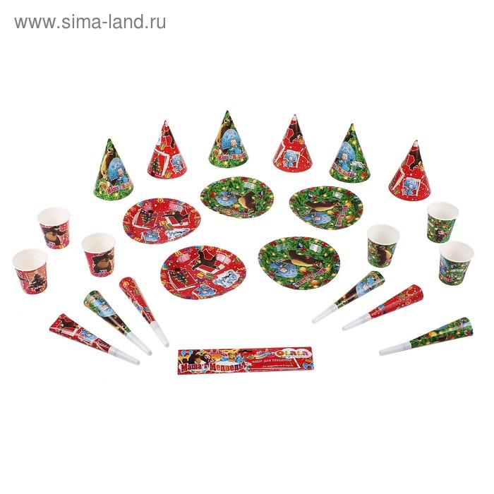 """Набор для праздника """"Новый год!"""" на 6 персон, 24 предмета МИКС"""