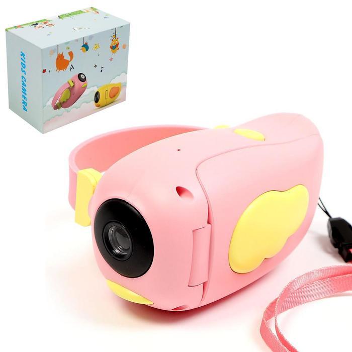 Детская видеокамера «Птичка», цвет розовый - фото 282124427