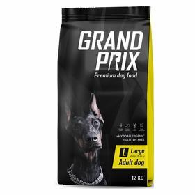 Сухой корм GRAND PRIX для собак крупных пород , с курицей, 12 кг