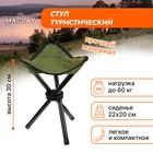Стул туристический треугольный, 22 х 20 х 30 см, до 60 кг, цвет зелёный
