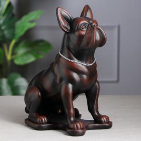 """Копилка """"Собака Бульдог"""", чёрно-красная, 30 см"""