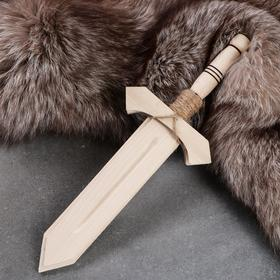 """Сувенирное деревянное оружие """"Меч воина"""", 35 см, массив бука"""
