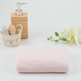 Полотенце махровое гладкокрашеное 30х60 см, розовый, хлопок 100%, 480г/м2