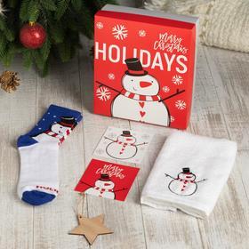 """Подарочный набор """"Holidays"""" полотенце 30х60 см и носки"""