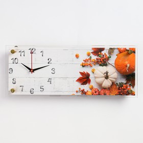 """Часы настенные, серия Кухня, """"Овощной микс"""", плавный ход, 49.5х19.5 см"""