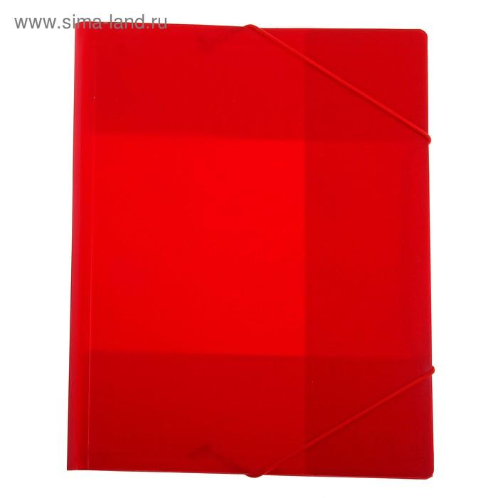 Папка на резинке А4 непрозрачная Красная, корешок 15мм, пластик 0,40мм