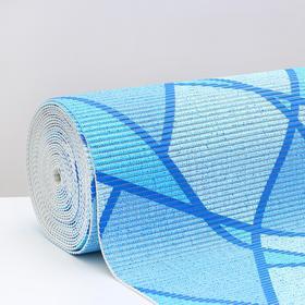 Коврик для ванной комнаты «Абстракция», 0,65×15 м, ПВХ, цвет голубой