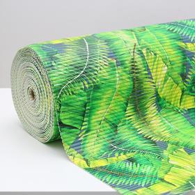 Коврик ПВХ «Джунгли», 0,65×15 м, цвет зелёный Ош