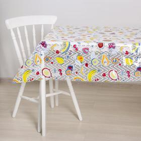 Клеёнка столовая без основы «Ажурная. Фрукты», 1,32×25 м