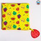 Loop, yellow, handkerchief with a teether