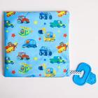 Loop, blue, handkerchief with a teether