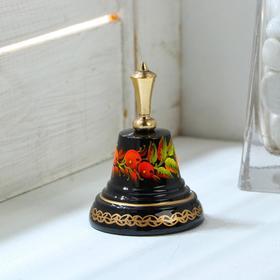 """Колокольчик Валдайский """"№3. Ягоды"""", расписной, с короткой ручкой, d=40 мм"""