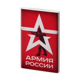 Внешний аккумулятор Red Line J01, 4000 мАч, металл, Армия России №19, серебристый