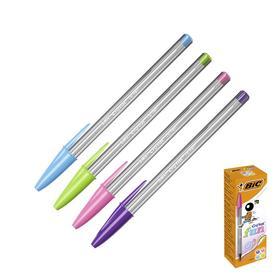 Ручка шариковая BIC Cristal Fun, узел 1.6мм, корпус микс 4В, стержень ассорти