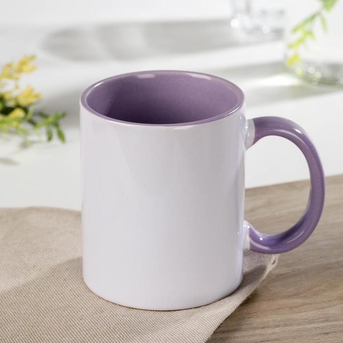 Accent mug, 320 ml, 11.5×8×9.5 cm, color pale lilac