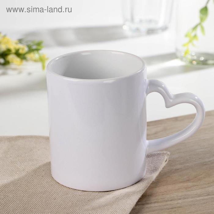 Love story mug, 320 ml, 12×8×9.5 cm, color white