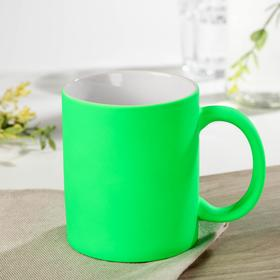 Neon mug, 320 ml, 11.5×8×9.5 cm, color green