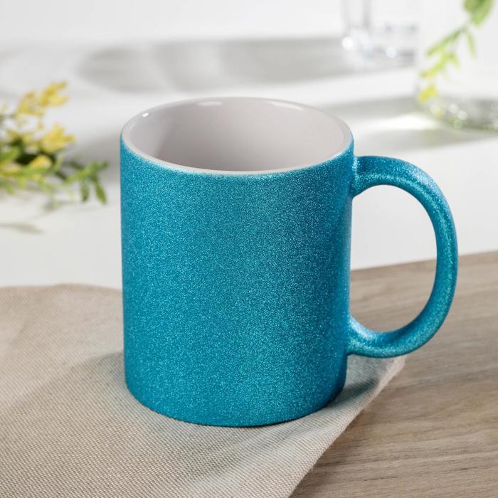 Кружка под сублимацию Доляна «Бурлеск», 320 мл, 11,5×8×9,5 см, цвет синий - фото 668689
