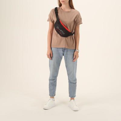 """Belt bag """"I am boss"""", 32* 8*15, zippered otd, black"""
