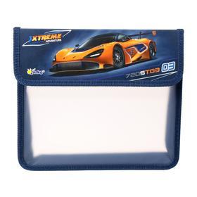 Папка для тетрадей, А5, клапан на липучке, пластиковая, «Оникс», ПТ-45, Auto orange