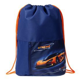 Мешок для обуви с карманом, 470 х 330 мм, Оникс МО-23, Auto orange
