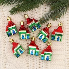 "Christmas tree decoration ""Winter house"" 6x4x3 cm (set of 8 PCs)"