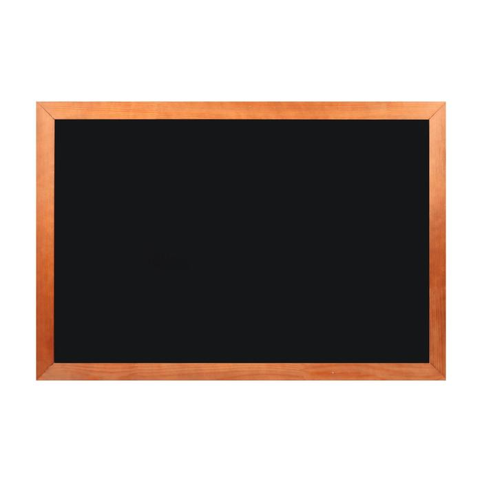 Доска магнитно-меловая, 60 х 90 см, черная, Calligrata, в деревянном профиле, морилка темная - фото 756372