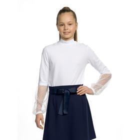 Джемпер для девочек, рост 122 см цвет белый