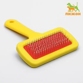 Slicker brush with drops, with plastic handle 9.2 x 13.2 cm, mix colors