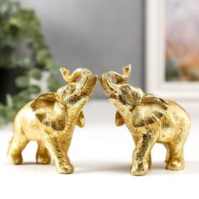 """Souvenir Polyresin """"Golden elephant"""" MIX of 10 x 10,5x4 cm"""