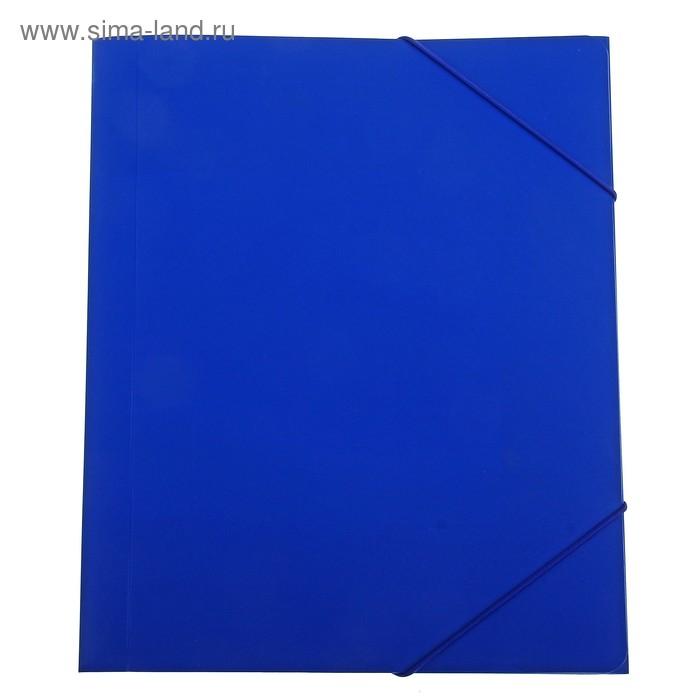 Папка-короб архивная А4 на резинке корешок 25мм пластиковая красная