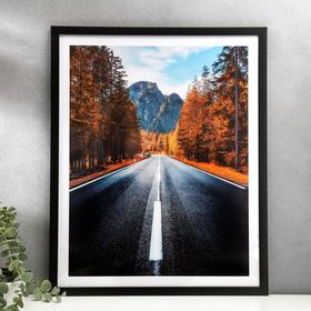 "Poster plastic ""Road in the autumn forest"" 40x50 cm"