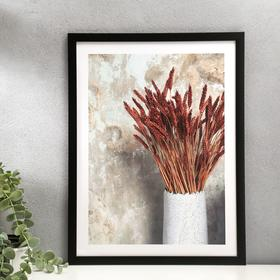 """Poster plastic """"wheat ears in a vase"""" 30x40 cm"""