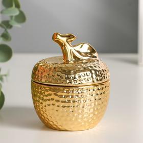 "Шкатулка керамика ""Золотое яблочко"" 8,5х7х7 см"