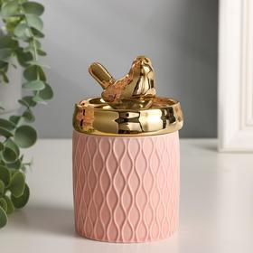 "Шкатулка керамика ""Золотая птичка"" 13х7,5х7,5 см"