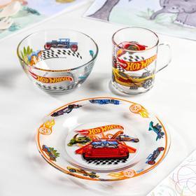 Набор посуды детский Priority Hot Wheels, 3 предмета