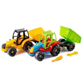 Игрушка «Конструктор-трактор с прицепом»
