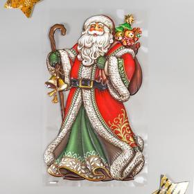 """Объёмная наклейка Room Decor """"Дед Мороз в красной шубе"""" 24х41 см"""