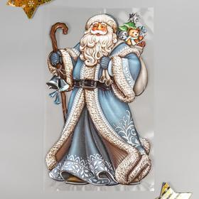 "Объёмная наклейка Room Decor ""Дед Мороз в синей шубе"" 24х41 см"