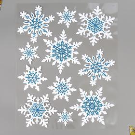 """Объёмная наклейка Room Decor """"Искрящиеся снежинки"""" 27,5х35 см"""