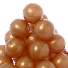 A set of balls for a dry pool 150 pcs, color: bronze