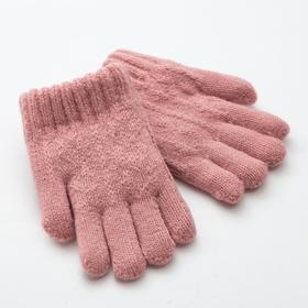 "Children's gloves MINAKU ""rainbow"", p. 4 (7-8 years), color pink"