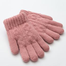 "Children's gloves MINAKU ""rainbow"", p. 5 (9-10 years), color pink"