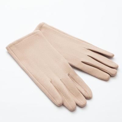"Women's gloves MINAKU ""Classic"", size 6.5, color beige"