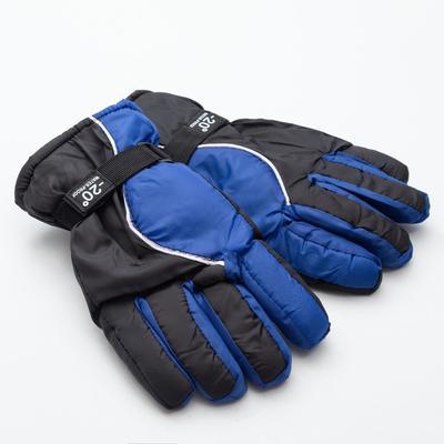 Men's winter gloves MINAKU, color black/blue, R-R 9 (27*13 cm)