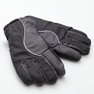 Men's winter gloves MINAKU, color black/gray, R-R 9 (27*13 cm)