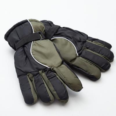 Men's winter gloves MINAKU, color black/green, R-R 9 (27*13 cm)