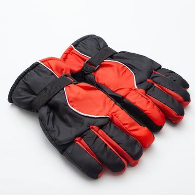 Men's winter gloves MINAKU, color black/red, R-R 9 (27*13 cm)