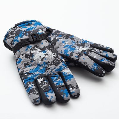 """Men's winter gloves MINAKU """"Khaki"""", color blue, R-R 9 (27 cm)"""